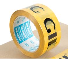 印LOGO封口胶(米黄色底黑色字)均可根据客户要求订做