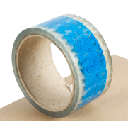 印LOGO封口胶(透明底蓝色字)均可根据客户要求订做