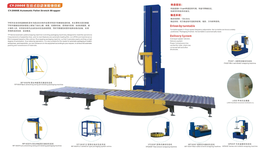 CY-2000E在线式自动薄膜缠绕机